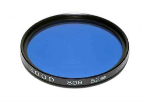 52mm Kood Glass 80B Filter Made in Japan